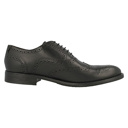 Base London Herren Brogue-Schuhe-MTO Walnuss Schwarz