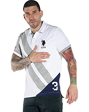 U.S. Polo Assn... Men's Short Sleeve Slim Fit Solid Pique Polo Shirt