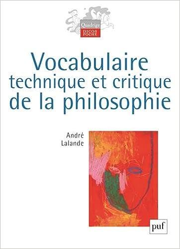 dictionnaire philosophique lalande