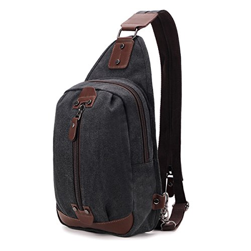 Bulage Bolsas Para Jóvenes Estudiantes Bolso Del Mensajero De La Lona bolso Hombres De Gran Capacidad Ocio Deportes Al Aire Libre Mochila Pequeña Viajes Black