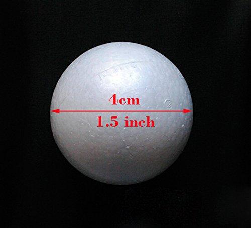 24pcs 4cm Floracraft Styrofoam Balls Foam Balls, 1.6-Inch, White