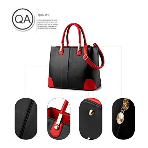 Fashion Large Ladies Auspicious capacity Unique red Handbag beginning bright Colors Assorted ESBUfBqIw