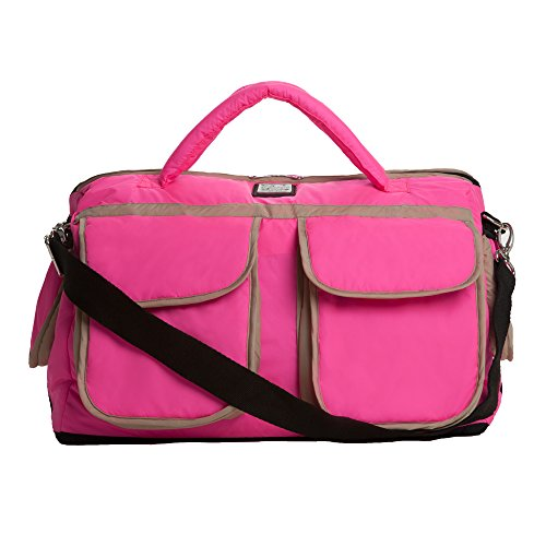 7AM Enfant Voyage Diaper Bag, Neon Pink, Small by 7AM Enfant