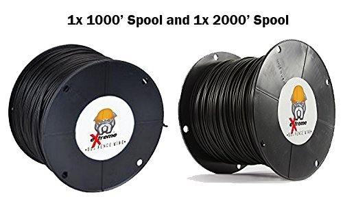 18AWG / Gauge Professional Grade eXtreme Dog Fence Solid Core Dog Fence Wire (3000' - 1x 1000' Spool and 1x 2000' Spool) by Extreme Dog Fence