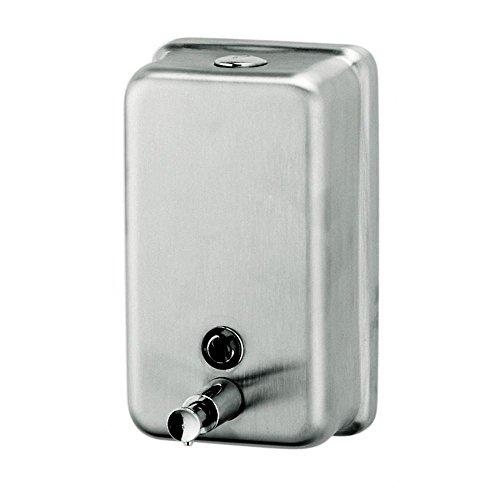 Vertical Liquid Soap Dispenser in Silver