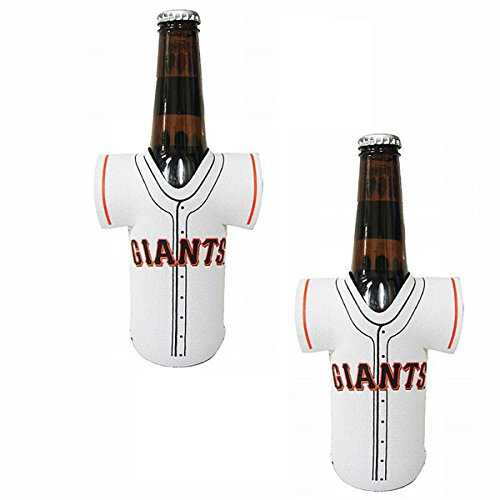 Official Major League Baseball Fan Shop Authentic MLB 2-pack Insulated Bottle Team Jersey Cooler (San Francisco Giants) (Giants San Bottle Francisco Jersey)