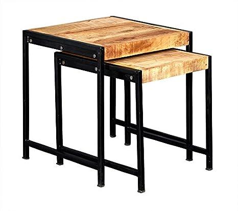 VERTY FURNITURE Industrial Estilo Nido de 2 mesas Muebles de ...