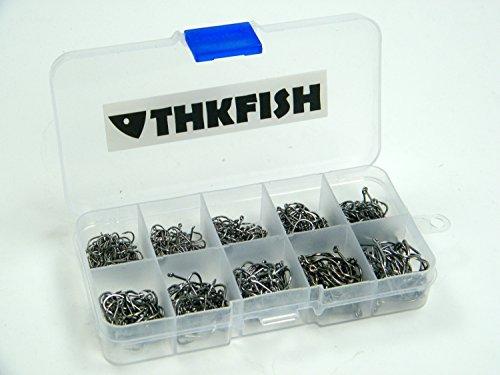 500 Stück klein Größe schwarz Süßwasser- fish Hook einstellen Angelhaken