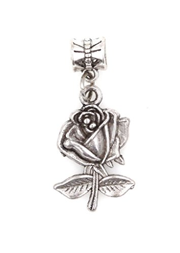 It's All About...You! Rose Dangling European Bead Charm 90I