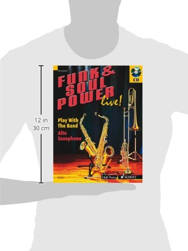FUNK & SOUL POWER LIVE] PLAY WITH THE BAND ALTO SAXOPHONE BK/CD