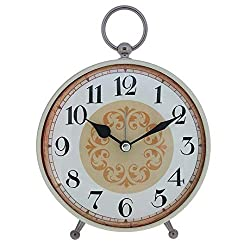 Konigswerk Table Alarm Clock for Living Room Décor, Analog Loud Alarm Clock, Battery Operated Retro Old Fashioned Decorative (AC118G)