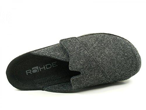 Rohde 2768 Neustadt-H Herren Schuhe Hausschuhe Pantoffeln Grau