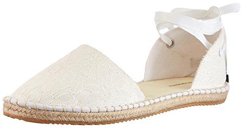 A|X Armani Exchange Women's Armani Exchange Lace Espadrille Sandal, White, 7 M - Armani Exchange Shipping