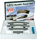 Kato-Unitrack 20-870-1 - Spur N Variations Set V11: 2-gleisiges Trassen Gleis-Set