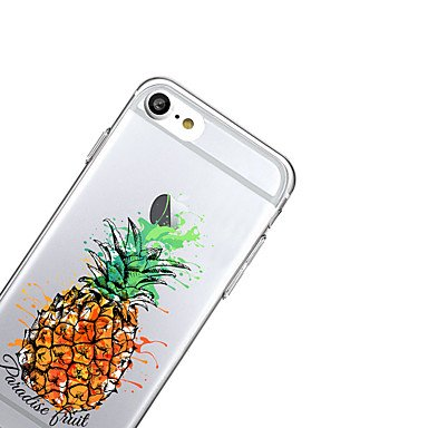 Fundas y estuches para teléfonos móviles, para el caso transparente de la cubierta del caso cubierta suave de la contraportada de la fruta de la caja de la contraportada para el ( Modelos Compatibles  IPhone 7