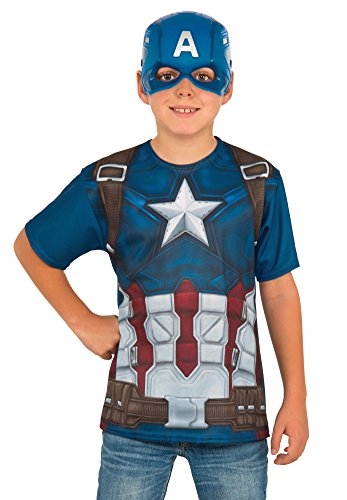 Best Children's Book Characters Costumes (Rubie's Costume Captain America: Civil War Child Top and Mask, Medium)