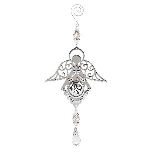 Crystal Silver Tone 3 x 11 Metal Christmas Ornament ()