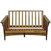 Gold Bond AOSHC + BO54C Boston Cherry Pullout Loveseat Oak Futon Frame, 54, Brown