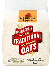 Mornflake traditionell havre 1 kg, valet för en hälsosam livsstil   Glöm inte: spannmål havregröt cornflakes chokladkuddar vete havregryn krispigt proteinmjölk