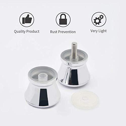 YUANQIAN accesorio de cabina de ducha Juego de 2 tiradores de puerta de cristal ABS cromados para mampara de ducha
