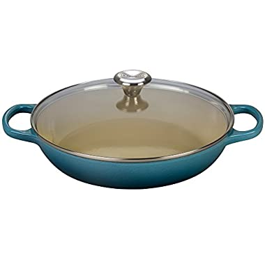Le Creuset Enameled Cast Iron 3.5qt. Buffet Casserole with Glass Lid - Marine