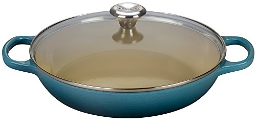 Le Creuset Cast Iron Pot (Le Creuset Enameled Cast Iron 3.5qt. Buffet Casserole with Glass Lid - Marine)