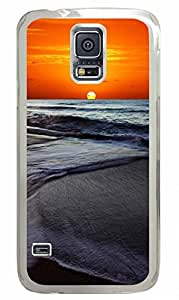 Transparent Fashion Case for Samsung Galaxy S5 Generation Plastic Case Cover for Samsung Galaxy S5 with Sunset