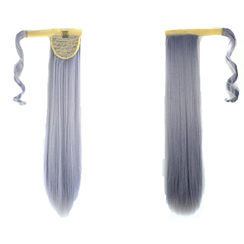 [DEESEE(TM) New Clip In Human Hair Extension Straight Pony Tail Wrap Around Ponytail (J)] (Making Waves Sailor Costume)