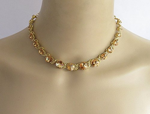 Bollywood Crystal Choker/Indian Women Fashion Style Necklace/Gold Bridal Wedding Necklace Jewelry