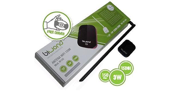 Desconocido Tarjeta Red Alfa WiFi USB 3 W + Antena 18DBi ...