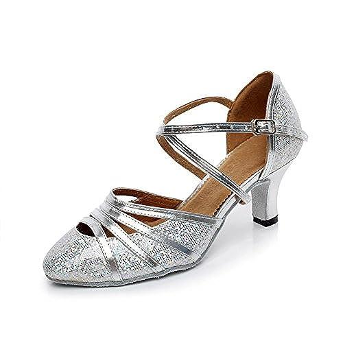 a8062b2a Envio gratis JSHOE Zapatos De Danza Latina Para Mujer De Tacón Cerrado De  Tacón Alto EN
