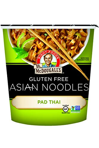 Dr. McDougall's Right Foods Asian Entree Pad Thai Noodle, 2 Ounce Cups (Pack of 6) Gluten-Free, Non-GMO, No Added Oil, Paper Cups From Certified Sustainably-Managed ()