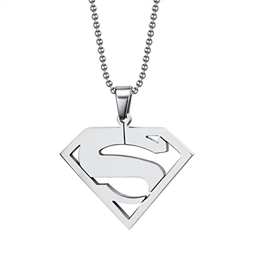 Red Dandelion Stainless Steel Chain Superman Pendant Necklace (Blue Oyster Cult Pin compare prices)