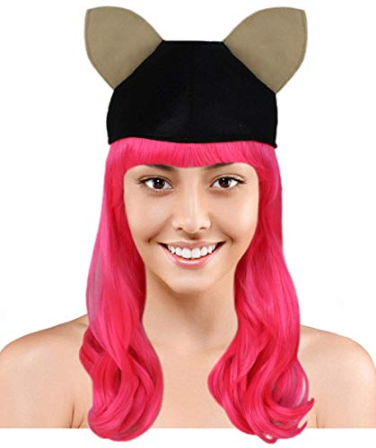 Monster High Howleen Wolf Wig with Hat | Pink TV/Movie Wigs ()