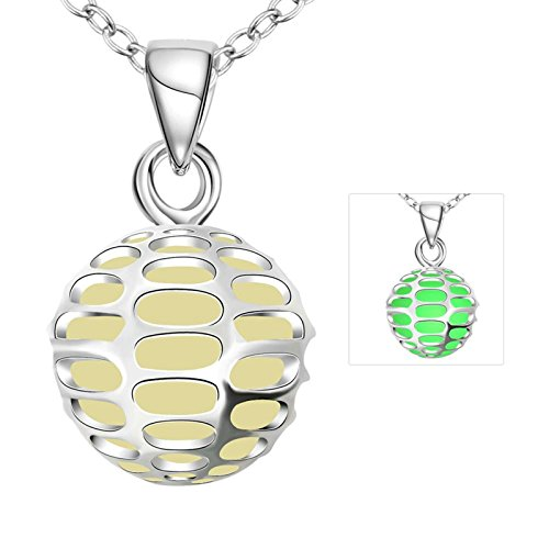 Aokarry Economic Glow in Dark Round Ball Necklace Pendant Women Chain (Old Ball And Chain Costume)