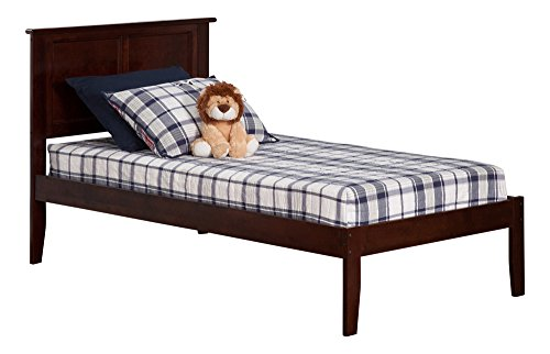 Madison Open Foot Bed, Twin, Antique Walnut by Atlantic Furniture