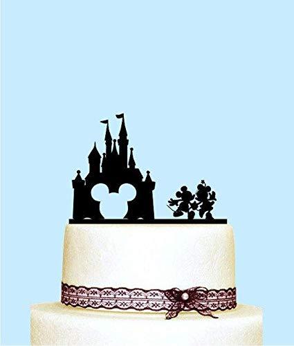 Mickey And Minnie Wedding Cake Topper, Disney Castle Wedding Cake Topper