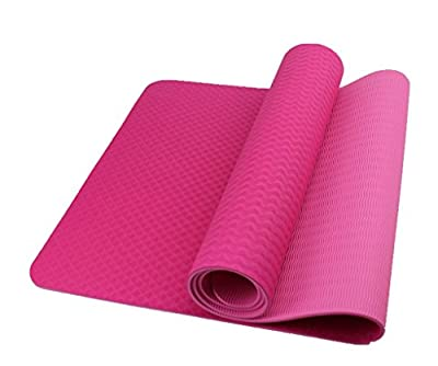"Premium TPE Yoga Mat by Bestshared Extra Long 72"" Thick 6mm Light Weight 2.4 Lbs Non-Slip Free of PVC and Other Toxic Chemicals"
