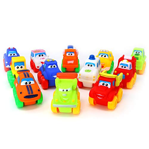 Big Mo's Toys Baby Cars - Soft Rubber Toy Vehicles for Babies and Toddlers - 12 Pieces by Big Mo's Toys (Image #2)