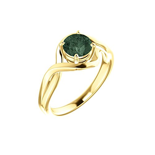 Bonyak Jewelry Lab-Created Alexandrite 14k Yellow Gold Chatham Lab-Grown Alexandrite Ring - Size - Ring Alexandrite Gold Chatham