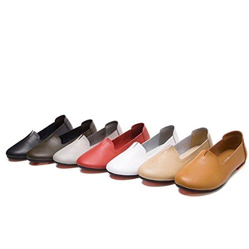 Vert Plate Matchlife Cuir Femme Chaussure Foncé En TEnnxXC6qw