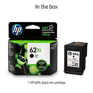 HP 62XL Ink | 1 Black Ink Cartridge | Plus $5 Instant Ink Prepaid Code