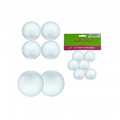 12 Count Large Foam Craft Balls 6 pack