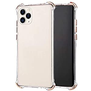Robinsoni Cover Compatibile con iPhone 11 Pro Max Clear Silicone Transparent Cover Airbag a Quattro Angoli AntiGraffio… 1 spesavip