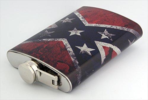 Confederate Flag Design 8oz Stainless Hip Flask Item # F01052015-0043