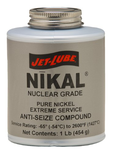 Jet-Lube Pure Nickel Nuclear Extreme Anti-Seize and Thread Lubricant, 1 lbs Brush Top Can