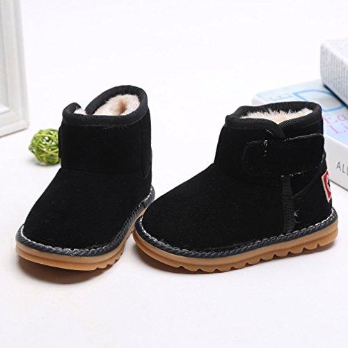 HENGSONG Winter Baby Schuhe Kinder Mädchen Jungen Stiefel Warm Schneestiefel Schwarz