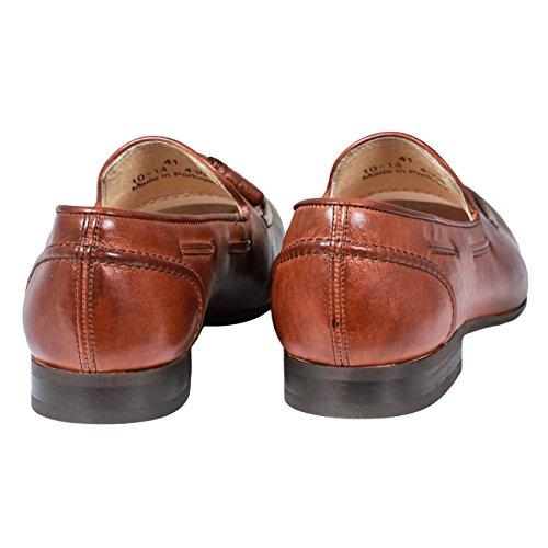 Hudson pierre loafer pompon Marron