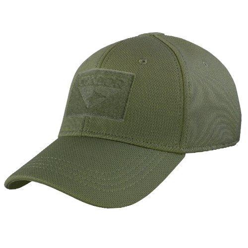 Cloth Green Cap (Condor Outdoor  Flex-Fit Tactical Cap  OD Green L/XL)