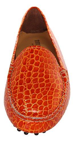 BRUNO MAGLI Damen Mokassins Handmade Orange 1000-COCCO-ARANCIONE